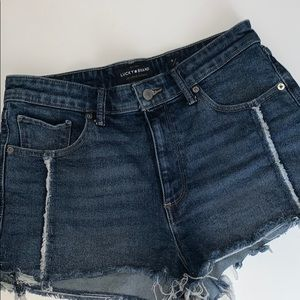Lucky Brand High Rise Jean Shorts